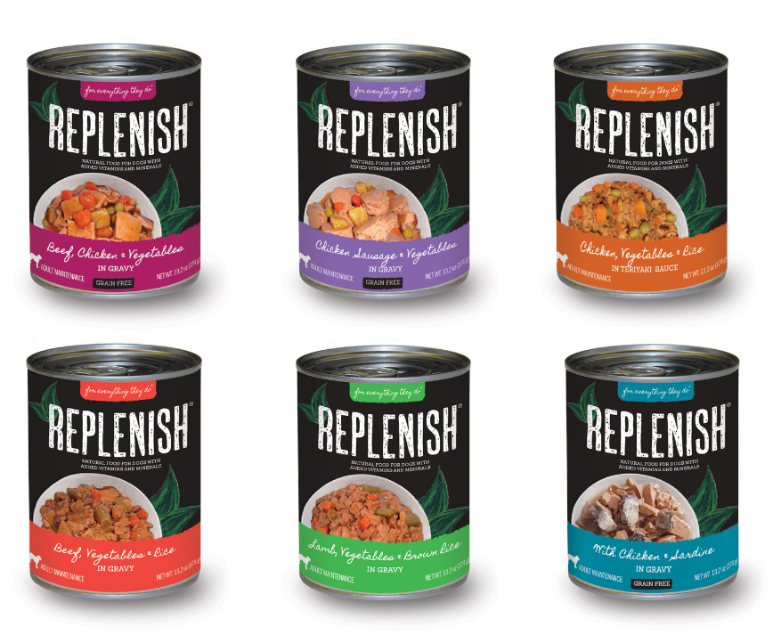 Replenish Dog Cans 120118